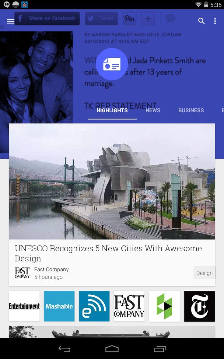 Google Newsstand App Portrait (Nexus 7 2012)