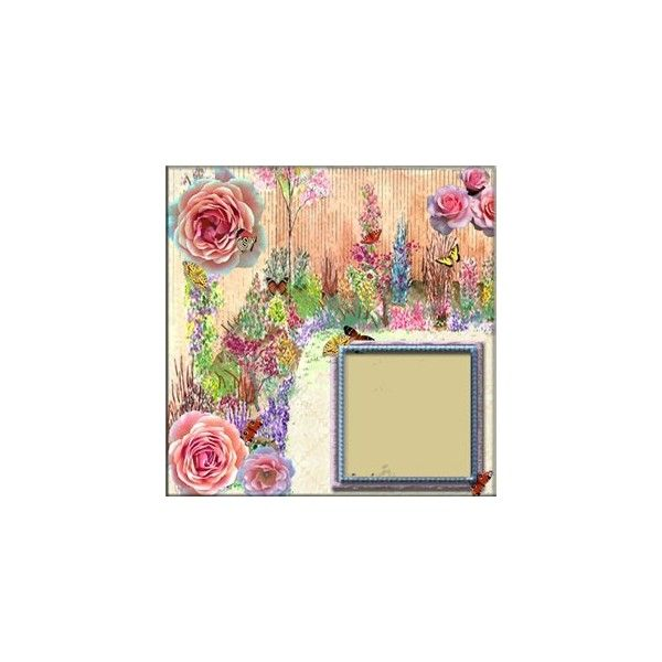 """Frames """"Rose garden"""" by Carolyn - Template Frames QP виньетки - Дизайн... ❤ liked on Polyvore featuring backgrounds, frames, borders, flowers and pink"""