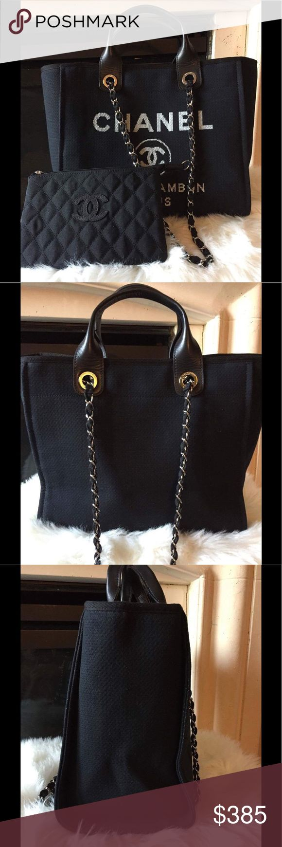 Summer Beach Chanel Tote Bag Black Medium Medium size tote bag , comes with dust bag, card, serial CHANEL Bags Totes