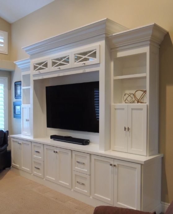how to build an entertainment wall unit