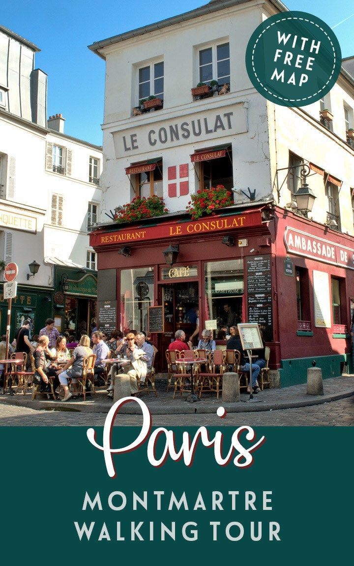A self-guided walking tour around Montmartre in Paris, exploring the art and history of this bohemian, artistic neighbourhood including Sacré-Cœur Basilica, the Place du Tetre and the Bateau-Lavoir artists studio. #Paris #Montmartre #walk