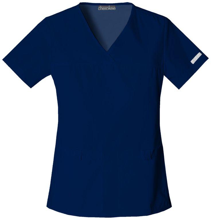Cherokee Flexibles V-Neck Knit Panel Top (style 2601)   Cherokee4Less  #scrubs