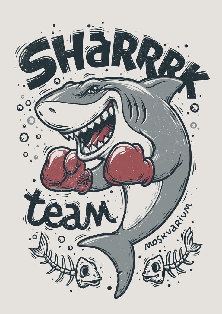 """Shark"" illustration, making of"