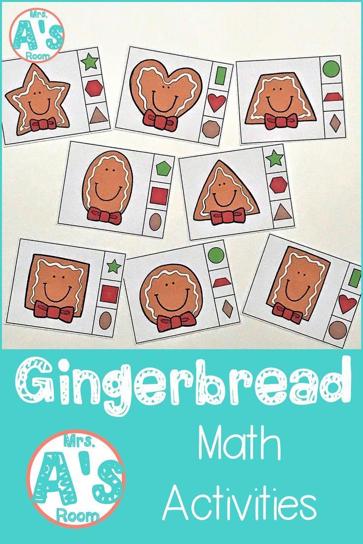 Gingerbread Man Math Worksheets Kindergarten
