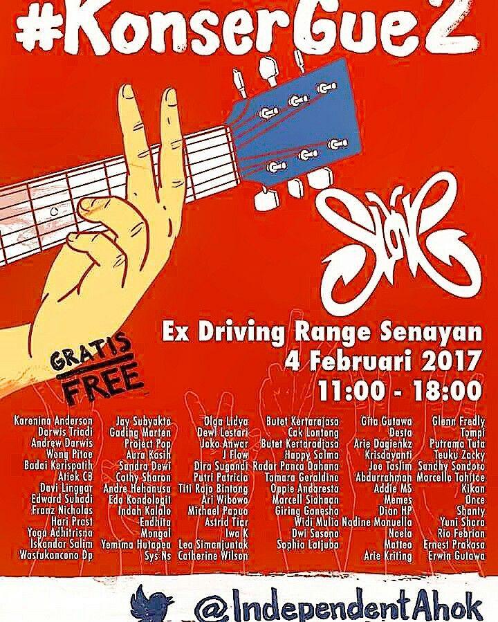 Konser Gue 2 @ Ex Driving Range Senayan, Jakarta on February 4, 2017.