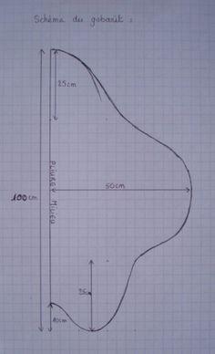 Tuto couverture nomade 12-18 mois  Taille 1: de 0 à 4 mois (h = 66cm) - Taille 2: de 4 à 9 mois (h = 85 cm)