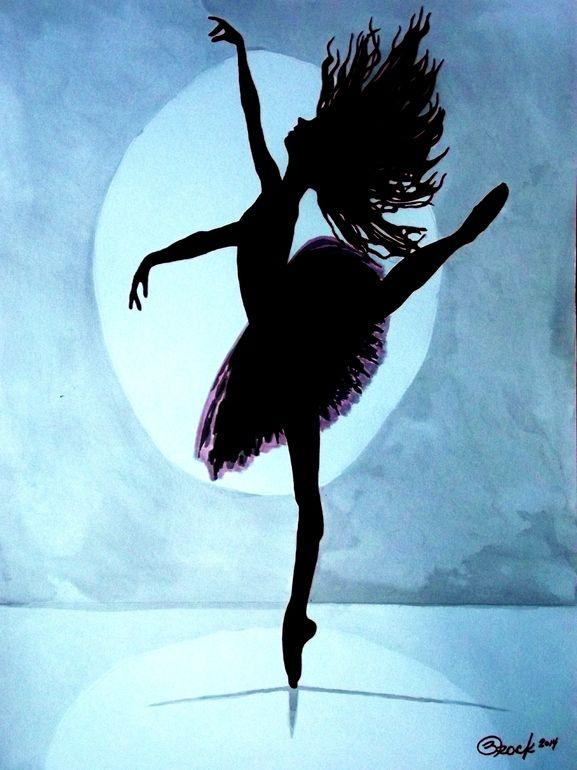 """Artist: Kyle Brock; Acrylic 2014 Painting """"Silhouette"""""""