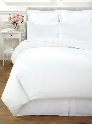 66% OFF Vera Wang Sculpted Floral Duvet (White)