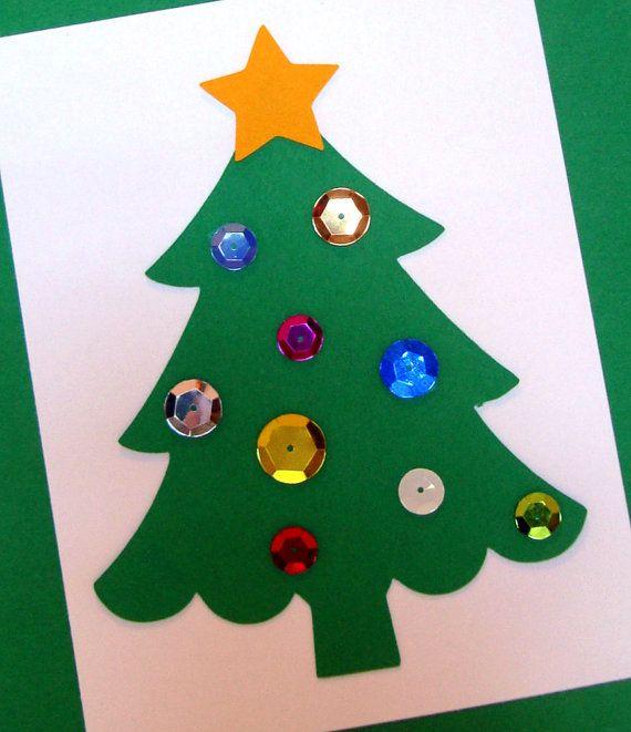 DIY Christmas Card Kit Tree by LadyTDesigns on Etsy, $20.00