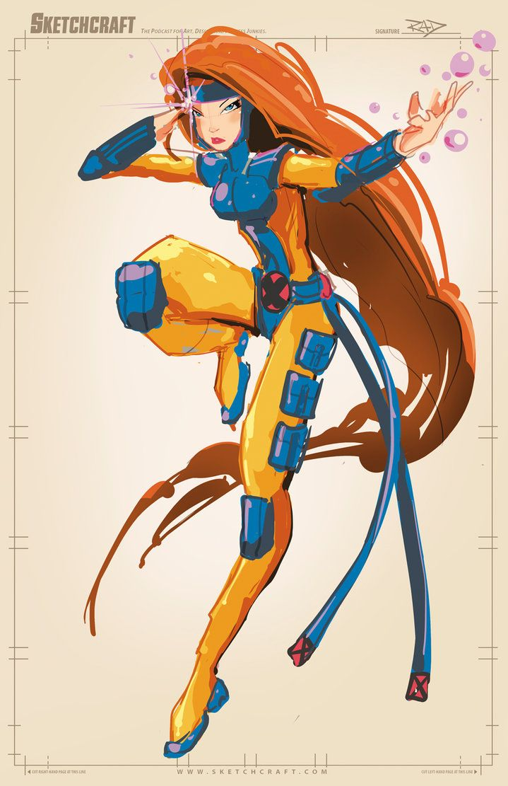Jean Grey color ruffy, sketched in PS CS5. _______________________________________________________________________ SkethCraft - The Vidcast for art, design, and process junkies.- sketch...