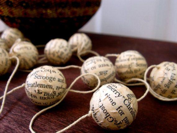 A Christmas Carol Garland - Literary Holiday Decor
