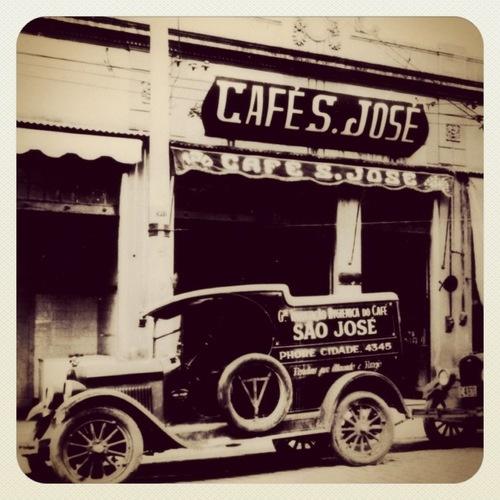 Old Café São José store (circa 1925)  Sao Paulo - Brazil