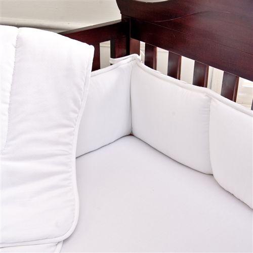 White Pique Crib Bumper