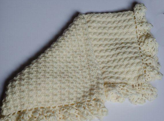 Yellow Heart crochet Baby Blanket by LovelyBabycrochet on Etsy, $45.00