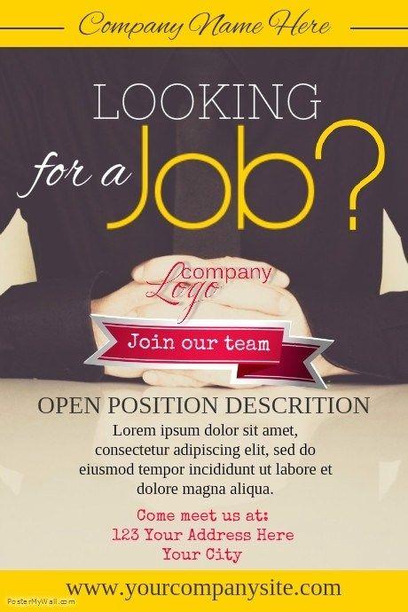 Company Job Offer Flyer Design Template Click To Customize Job Offer Job Offer Design Offer Flyer