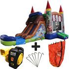 28ft Pirate Wet/Dry Commercial Inflatable Bounce House Water Slide Combo