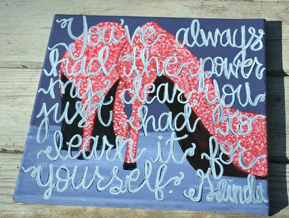 Glenda the Good Witch Quote on 12x12 Canvas
