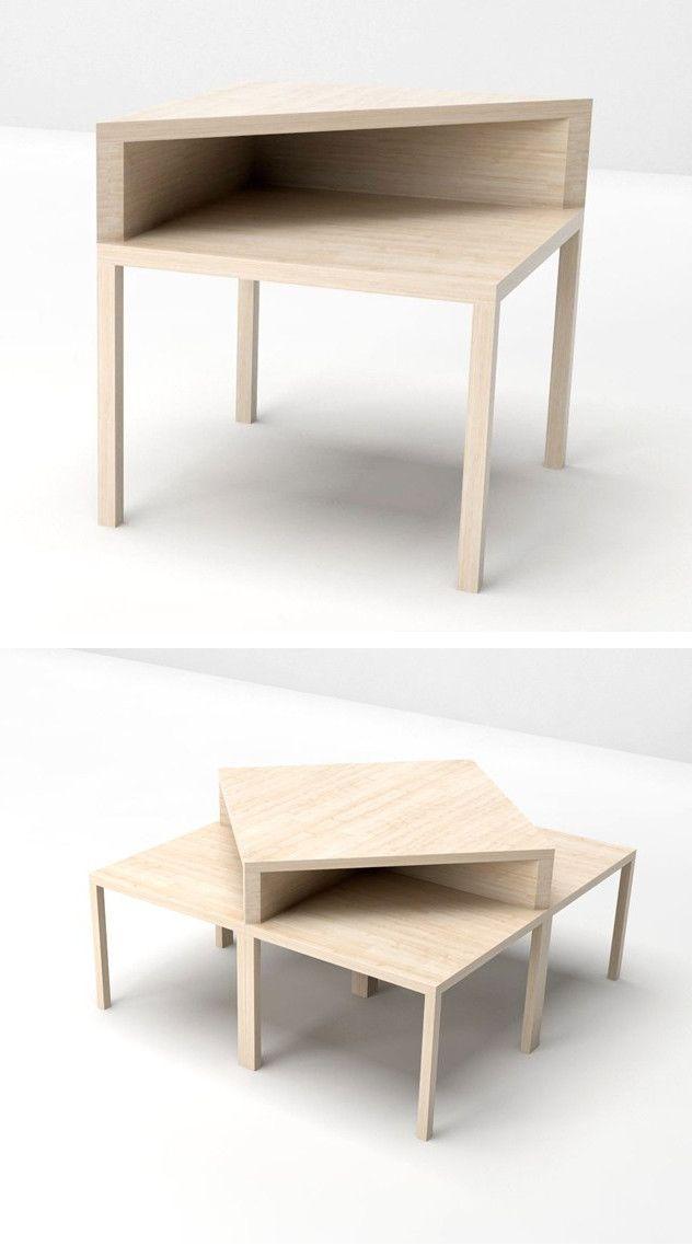 Square wooden coffee table CORNER by Valsecchi 1918 | #design Laudani &…