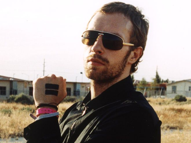Chris Martin's tattoo(Rectangles on hand)