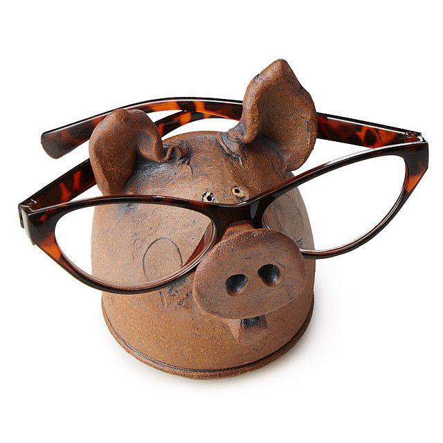 Pig Eyeglasses Holder | eyeglasses holder, pig art | UncommonGoods