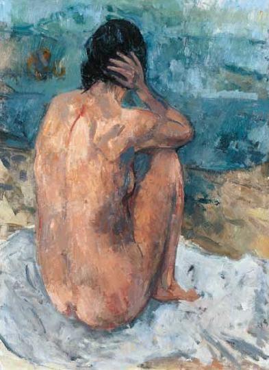 Bernáth, Aurél (1895-1982) Nude on the shore (Day-dreamer I.) 1937