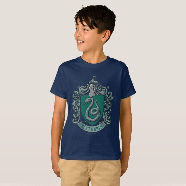 Harry Potter Slytherin Snake Black Children/'s Unisex T-Shirt