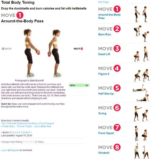 Full Body Kettlebell Workout For Beginners: Burn Fat With Kettlebell Workouts