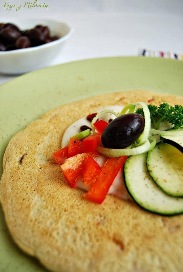 placek ciecierzycowy z warzywami
