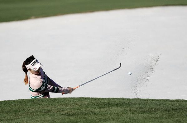 So Yeon Ryu of South Korea plays her shot out of the bunker during the final round of the CME Group Tour Championship at Tiburon Golf Club on November 20, 2016 in Naples, Florida.