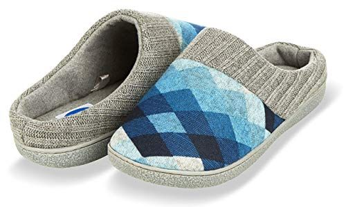 a5aee172e Amazon.com | Floopi House Slippers for Women| Argyle Knit/Terry Lined &