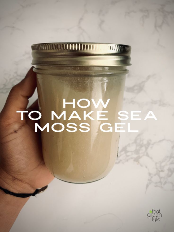 How To Make Sea Moss GelNoHeat Required That Green