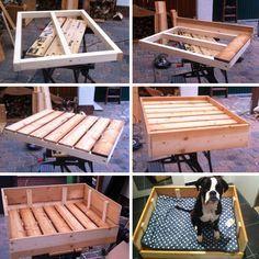 Hundebett aus Holz selber machen