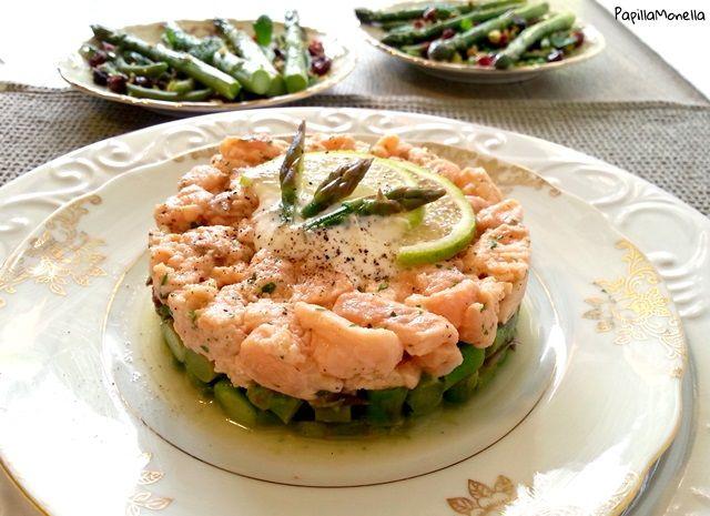 Tartare asparagi salmone zenzero