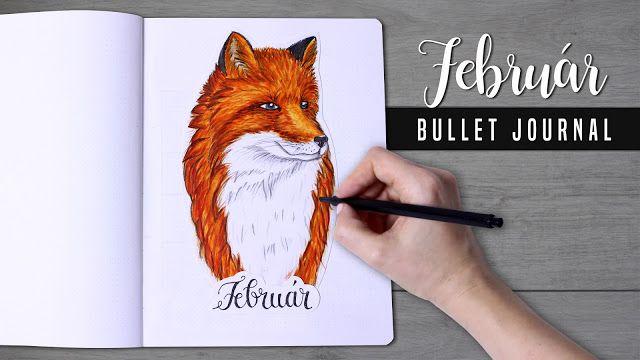 2018 Bullet Journal february, red fox
