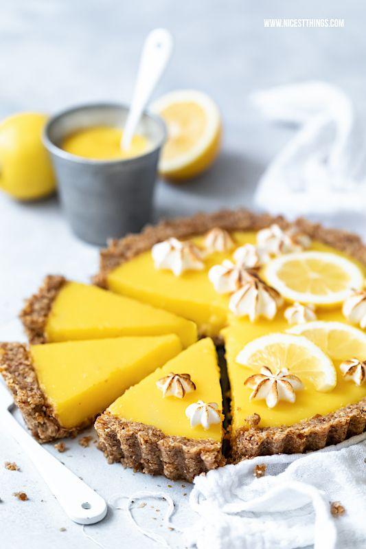 Torta de limão vegan: uma receita saudável e com baixas calorias   – Tartes / Tartelettes