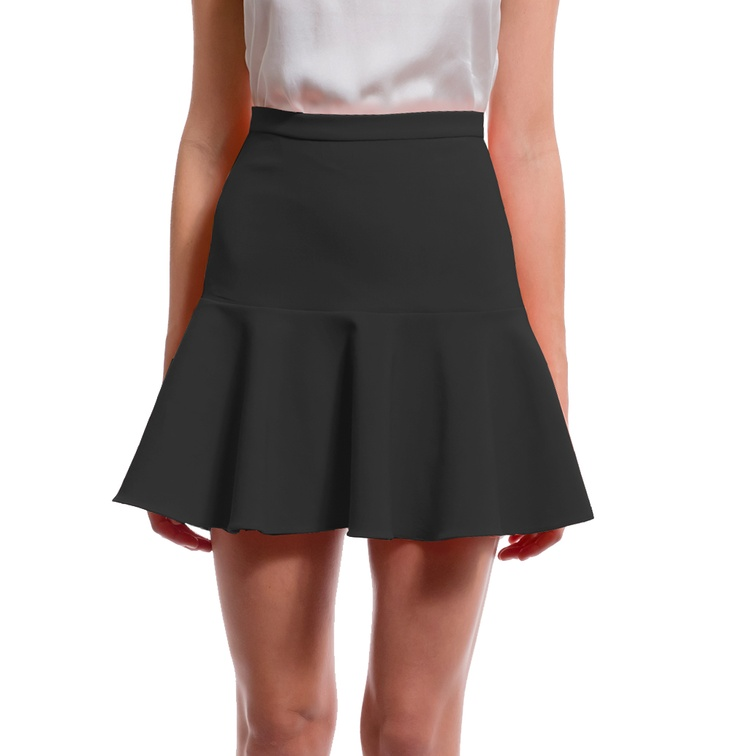 Elizabeth and James Black 'Amelia' Ruffled Skirt