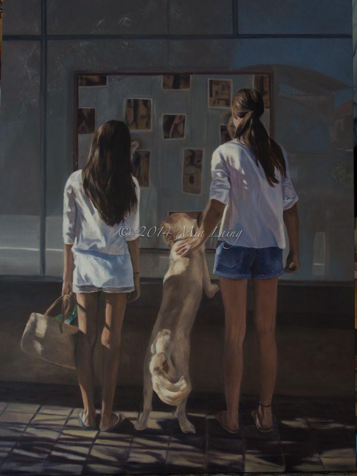 "Oil on canvas 2014 30x40' ""Furpreciation' Artist Mia laing copyright Mia Laing 2014"