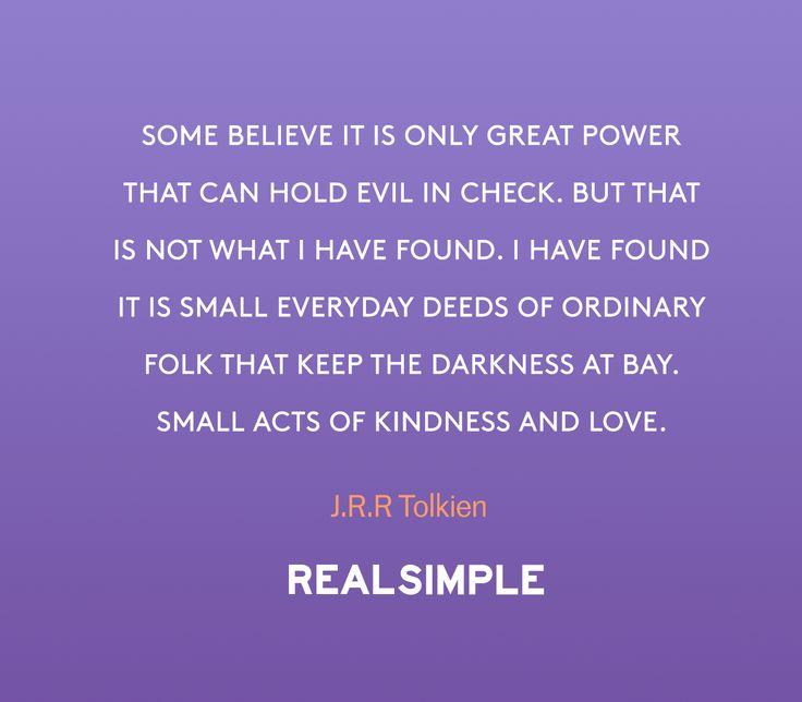 Inspiring words from J.R.R Tolkien.