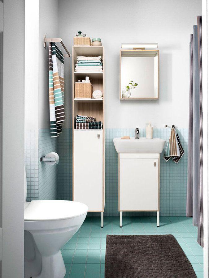 Almacenaje en baño pequeño