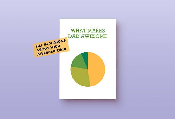Personalized fathers day card blank printable what makes dad
