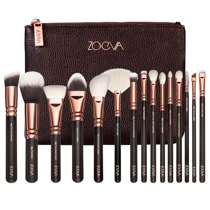 Zoeva Makeup brushes full professional makeup kit make up brushes set with bag for eye shadow free eye stencil