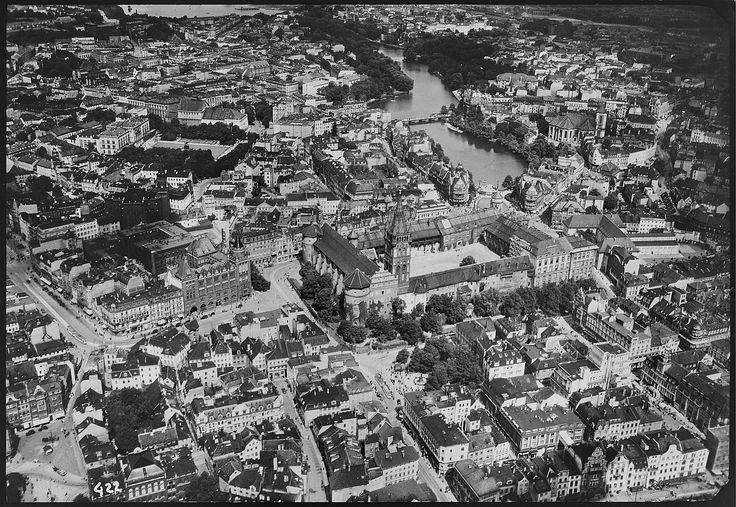 1931. Кенигсберг. Центр города с замком и рекой Прегель
