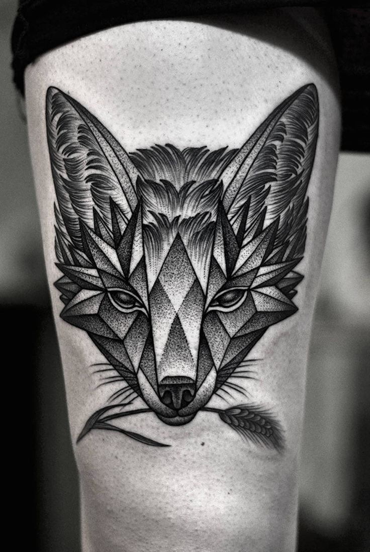 If you decide to get a tattoo look at the image of a fox this animal - Elegant Greyscale Tattoos
