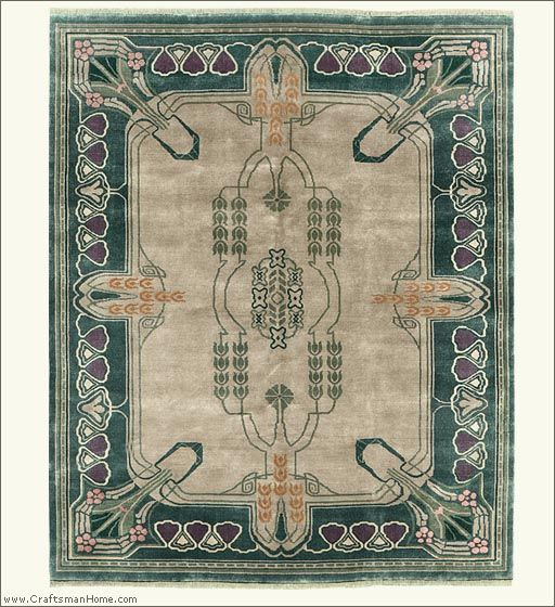 Arts and Crafts Rug (Craftsman style carpet), by The Persian Carpet, 100% wool