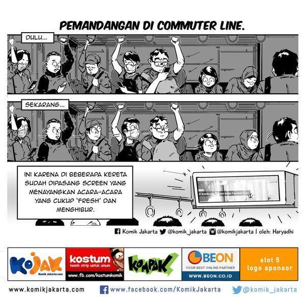 Pemandangan di Commuter Line by @haryadhi #KomikJakarta https://t.co/KyfDR8f0id
