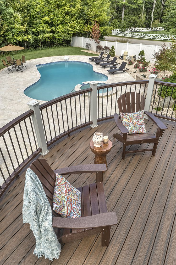 141 best deck design ideas for swimming pools hot tubs and spas our featured composite deck railing fence and lighting ideas and designs are here to inspire baanklon Image collections