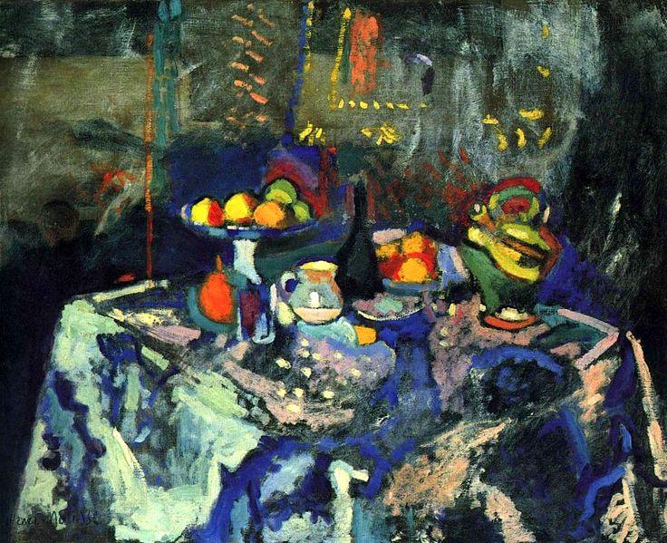 Still Life with Vase, Bottle and Fruit / Henri Matisse
