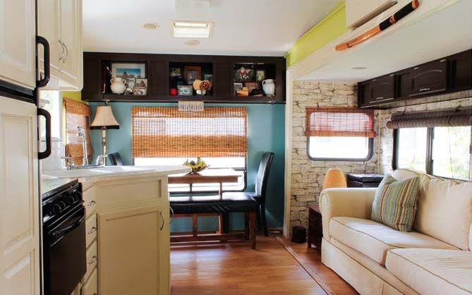 Couple Renovate 5th Wheel Travel Trailer into Tiny Home ^
