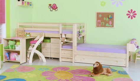 Patrová postel - zvýšené jednolůžko posuvné D934