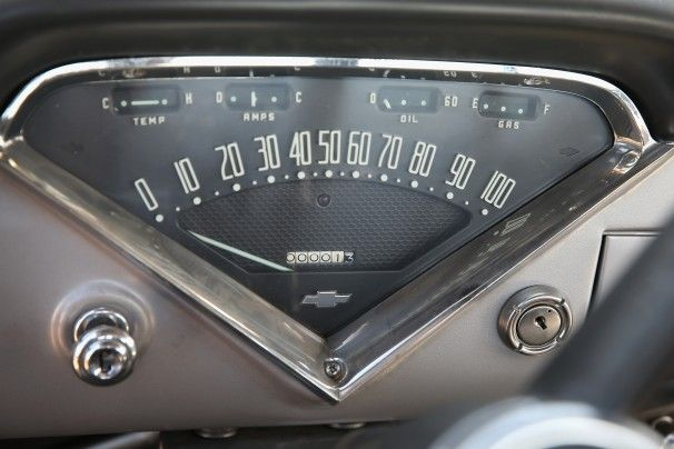 Lambrecht Chevrolet Company Auction Proxibid | The odometer of a 1958 Chevrolet Cameo truck on the Lambrecht family ...